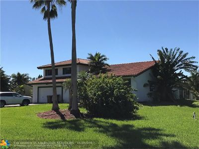 Davie Single Family Home For Sale: 14000 SW 26th Ct