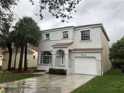 Pembroke Pines Single Family Home For Sale: 554 NW 159th Ln