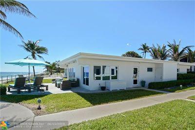 Hillsboro Beach Condo/Townhouse For Sale: 1212 E Hillsboro Mile #3