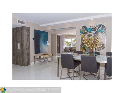 Fort Lauderdale Condo/Townhouse For Sale: 1151 N Fort Lauderdale Beach Blvd #1C