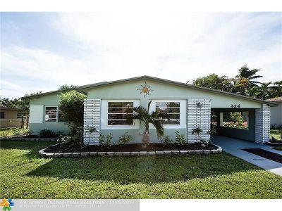 Wilton Manors Single Family Home For Sale: 424 NE 24th Street