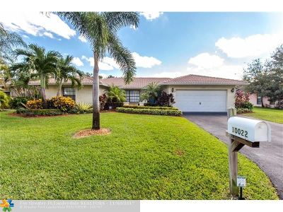 Coral Springs Single Family Home For Sale: 10022 NW 20th St