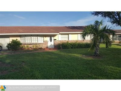 Coral Springs Single Family Home For Sale: 7519 NW 43rd Ct