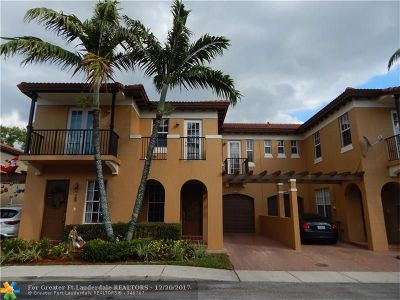 Coconut Creek Condo/Townhouse For Sale: 6917 Julia Gardens Dr