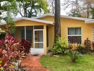 Oakland Park Single Family Home For Sale: 4270 NW 20th Ave