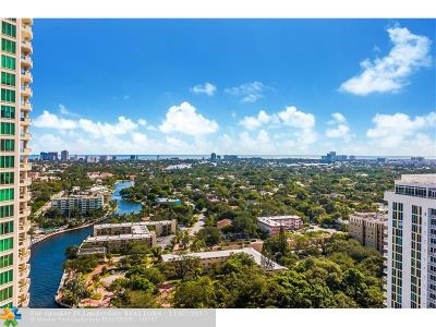 Fort Lauderdale Condo/Townhouse For Sale: 347 N New River Dr #2502