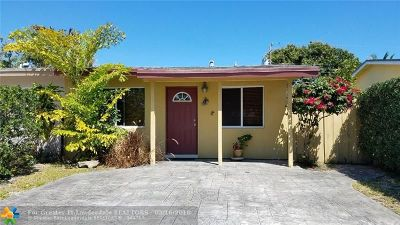 Oakland Park Single Family Home For Sale: 311 NE 57th Ct