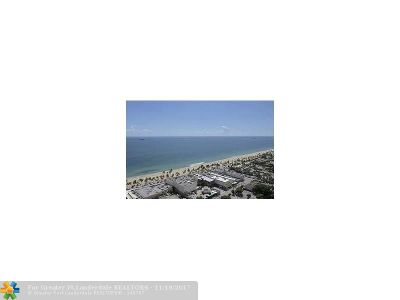 Fort Lauderdale Condo/Townhouse For Sale: 100 S Birch Rd #1604