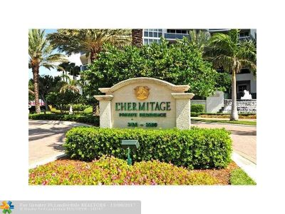 Broward County Condo/Townhouse For Sale: 3100 N Ocean Blvd #1601