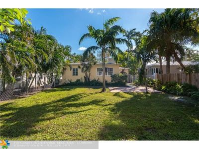 Fort Lauderdale Single Family Home For Sale: 1629 NE 4th Pl