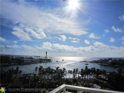 Pompano Beach Condo/Townhouse For Sale: 2639 N Riverside Dr #803