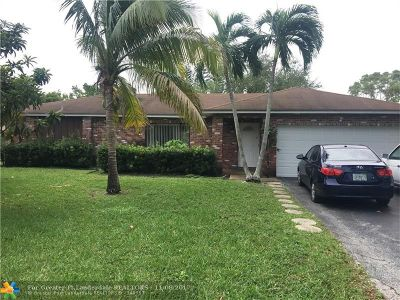 Coral Springs Single Family Home For Sale: 11092 NW 21st St