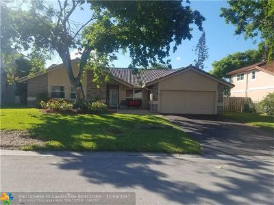 Coral Springs Single Family Home For Sale: 8506 NW 21st St