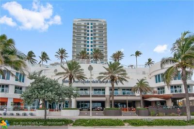 Fort Lauderdale Condo/Townhouse For Sale: 505 N Ft Lauderdale Bch Bl #812