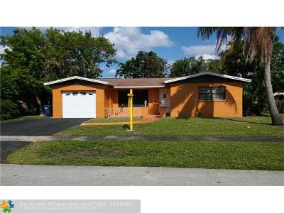 Lauderhill Single Family Home For Sale: 4741 NW 19th Ct