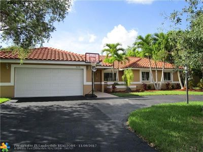 Coral Springs Single Family Home For Sale: 9113 NW 53 Street