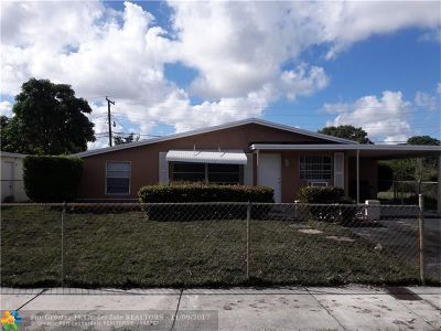 Lauderhill Single Family Home For Sale: 1881 NW 33rd Ave