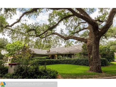 Dania Single Family Home For Sale: 5411 Shady Oak Lane