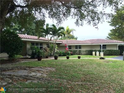 Plantation Single Family Home For Sale: 6600 E Tropical Way
