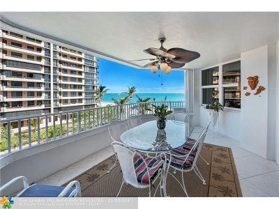 Pompano Beach Condo/Townhouse For Sale: 1340 S Ocean Blvd #503