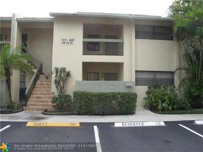 Coconut Creek Condo/Townhouse For Sale: 4402 NW 20th St #456