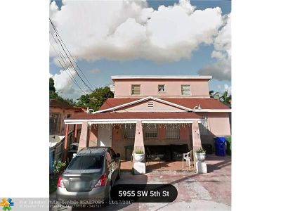 Miami Multi Family Home For Sale: 5955 SW 5th St