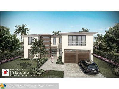 Jupiter Single Family Home For Sale: 176 Beacon Ln