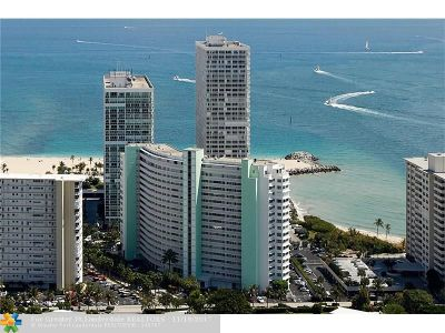 Fort Lauderdale Condo/Townhouse For Sale: 2000 S Ocean Dr #1707