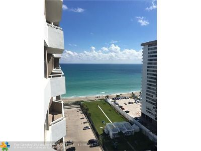 Broward County Condo/Townhouse For Sale: 1980 S Ocean Dr #17N