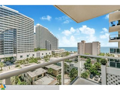 Fort Lauderdale Condo/Townhouse For Sale: 336 N Birch Rd #9D