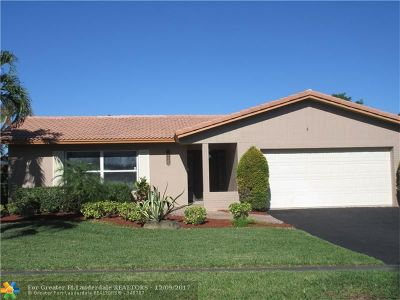 Coral Springs Single Family Home For Sale: 3720 NW 113th Ave