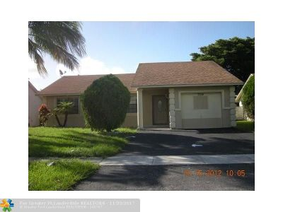 North Lauderdale Single Family Home For Sale: 7314 SW 8th St