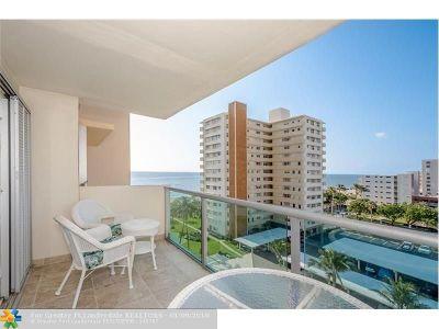 Pompano Beach Condo/Townhouse For Sale: 1620 N Ocean Blvd #710