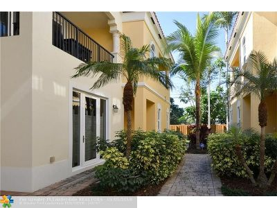 Fort Lauderdale FL Condo/Townhouse For Sale: $570,000
