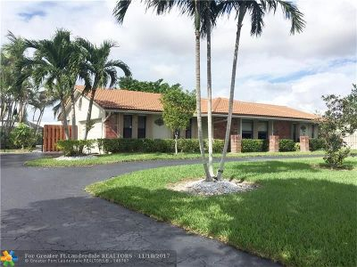 Broward County Single Family Home For Sale: 2800 NW 106th Ave
