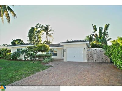 Oakland Park Single Family Home For Sale: 4421 NE 16th Ave