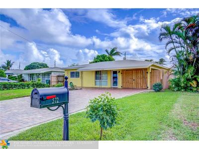 Oakland Park Single Family Home For Sale: 572 NW 46th St