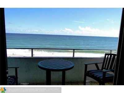 Condo/Townhouse For Sale: 4040 Galt Ocean Dr #504