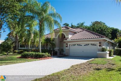 Coral Springs Single Family Home For Sale: 4851 Chardonnay Dr