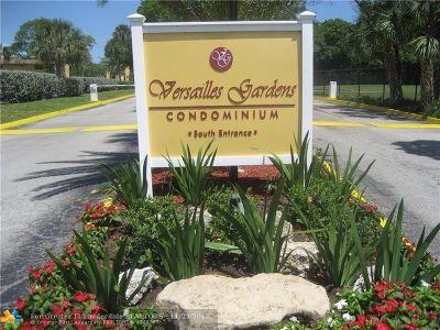 Tamarac Condo/Townhouse For Sale: 7800 Colony Cir #209