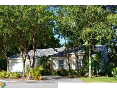 Coral Springs Single Family Home For Sale: 3564 Sanctuary Dr