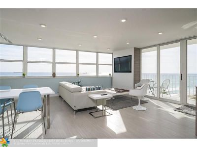 Fort Lauderdale Condo/Townhouse For Sale: 209 N Fort Lauderdale Beach Blvd #8E
