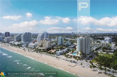Fort Lauderdale Condo/Townhouse For Sale: 701 N Fort Lauderdale Beach Blvd #1702
