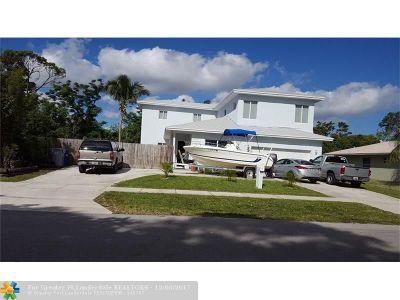 Pompano Beach Single Family Home For Sale: 1865 NE 48th St