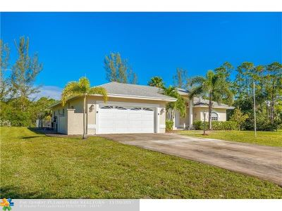 Loxahatchee Single Family Home Backup Contract-Call LA: 15553 N 77th Pl N