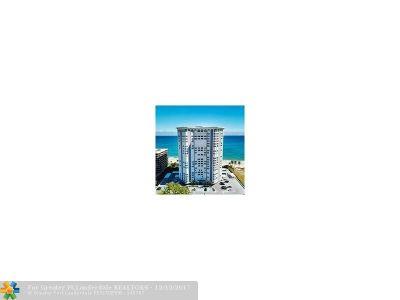Pompano Beach Condo/Townhouse For Sale: 1340 S Ocean Blvd #1601