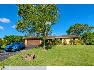 Coral Springs Single Family Home Backup Contract-Call LA: 8203 NW 6 Court