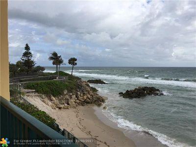 Hillsboro Beach Condo/Townhouse For Sale: 1239 E Hillsboro Mile #208