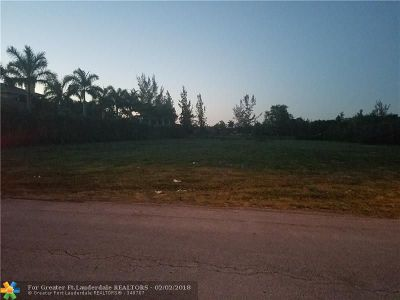 Plantation Residential Lots & Land For Sale: 12361 NW 8th St