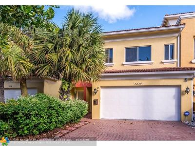 Fort Lauderdale Condo/Townhouse For Sale: 1314 NE 26th Ave #1314